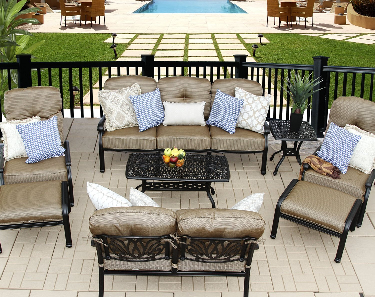 elizabeth 8 pcs seating group - Patio Living