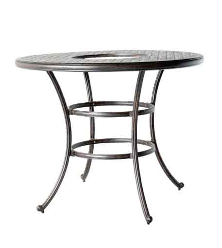 Ld1031l 52 in round bar table with ice bucket dia for Table 52 restaurant gaborone