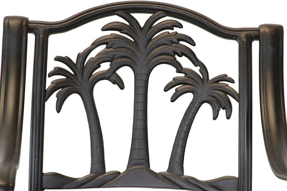 Palm Tree Bar Set 48 In Round Bar Table Swivel Barstools
