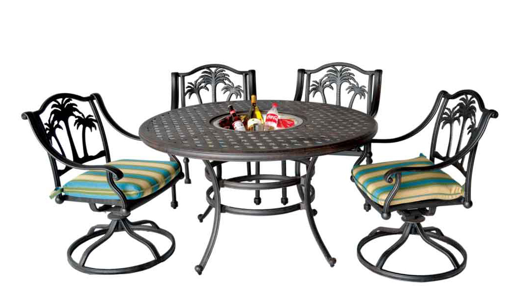Terrific Palm Tree Dining Set 30 Round Table Arm Chairs Patio Land Download Free Architecture Designs Embacsunscenecom